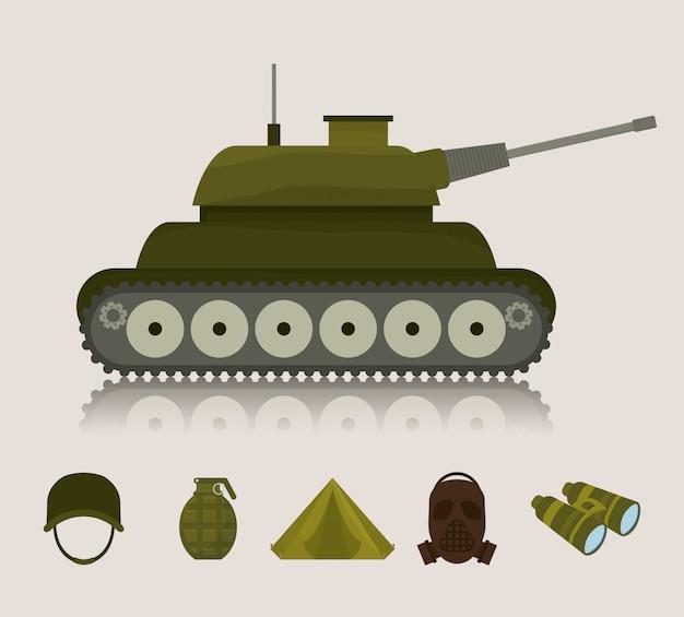 Ilustração do projeto do exército