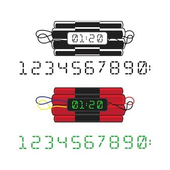 Ilustração do projeto do ícone do vetor de bomba tnt