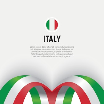 Ilustração do projeto do molde do vetor do dia da independência de itália