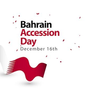Ilustração do projeto do molde do vetor do dia de adesão de barém