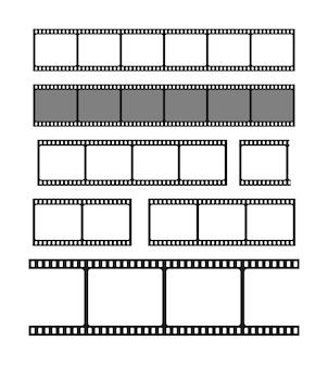 Ilustração do quadro de tiras de filme em branco