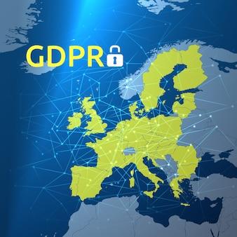 Ilustração do regulamento geral de proteção de dados