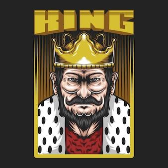 Ilustração do rei homem