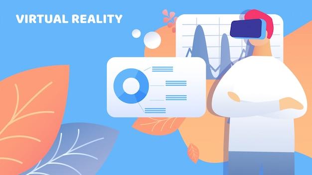 Ilustração do relatório de apresentação da realidade virtual