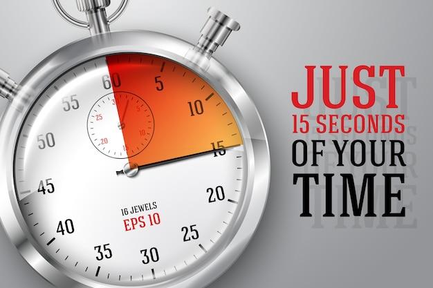 Ilustração do relógio de tempo em execução