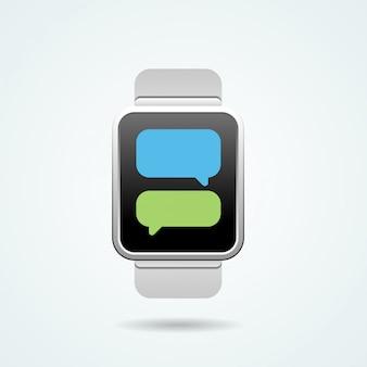 Ilustração do relógio inteligente
