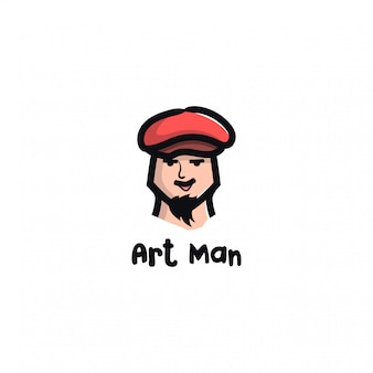 Ilustração do rosto de um homem com chapéu, bigode, barba e sobrancelhas grossas.