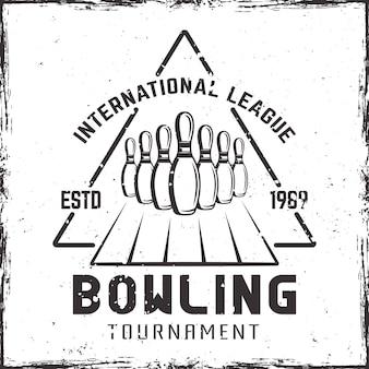 Ilustração do rótulo do torneio de boliche