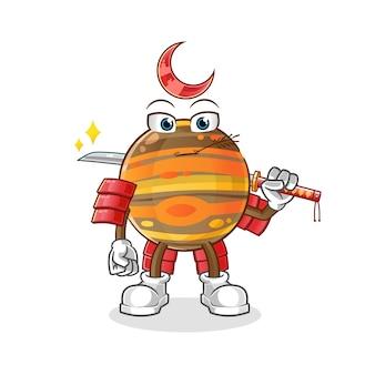 Ilustração do samurai de júpiter
