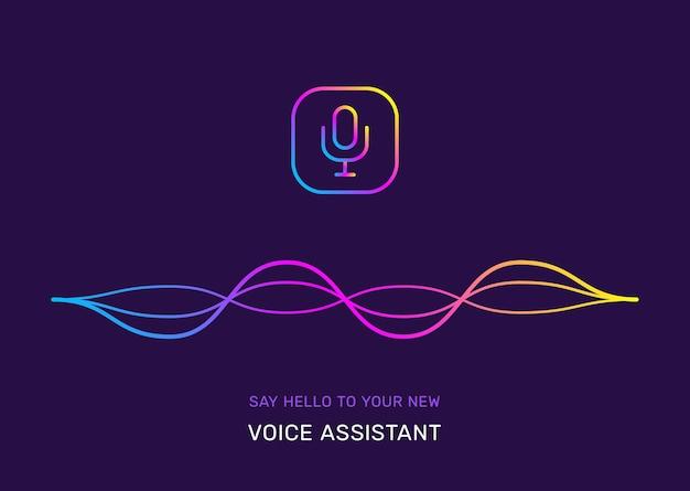 Ilustração do símbolo do assistente de voz gradiente