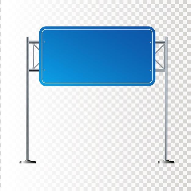 Ilustração do sinal azul em branco da estrada lateral isolada no fundo branco
