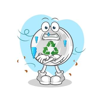 Ilustração do sinal de reciclagem