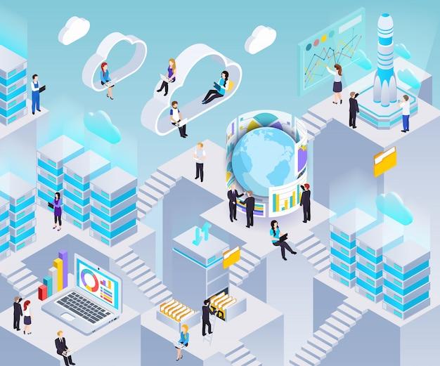 Ilustração do sistema de análise de big data
