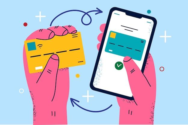 Ilustração do sistema de segurança e pagamento online