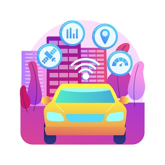 Ilustração do sistema de transporte inteligente