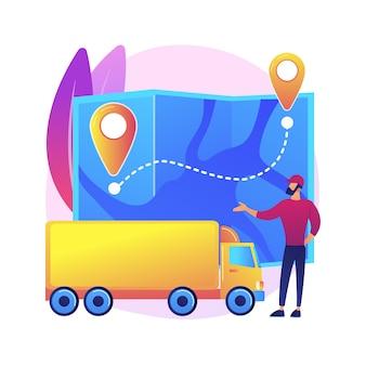 Ilustração do sistema de transporte nacional