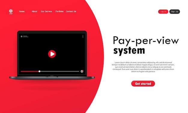 Ilustração do sistema pay per view