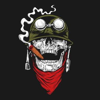 Ilustração do soldado do crânio