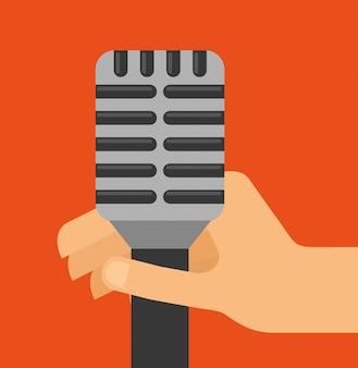 Ilustração do som do microfone