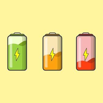 Ilustração do status de carga do indicador de bateria