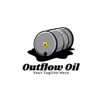 Ilustração do tambor de óleo de escoamento