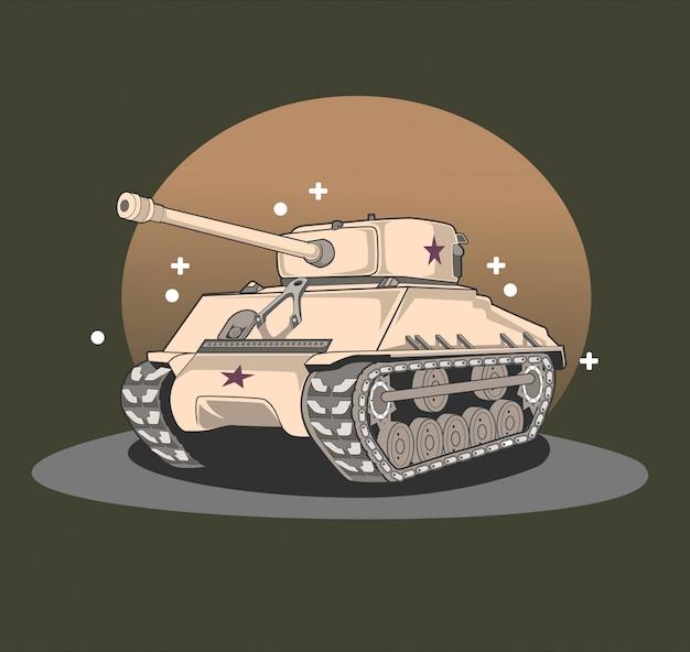 Ilustração do tanque do exército