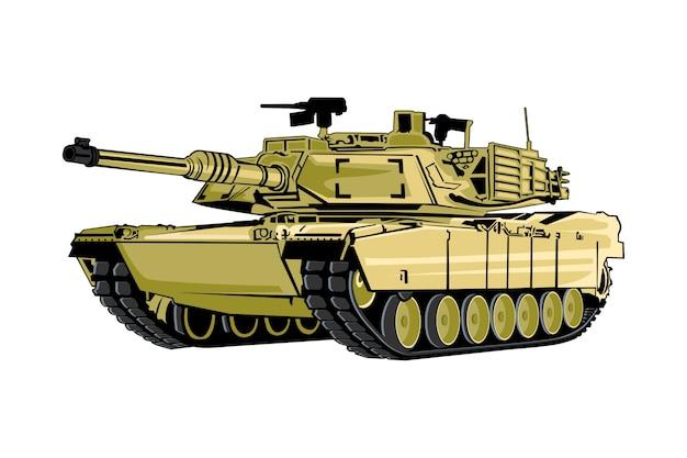 Ilustração do tanque militar
