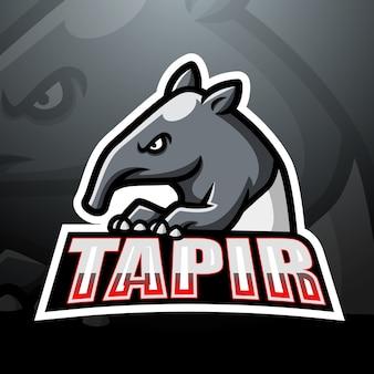 Ilustração do tapir mascote esport