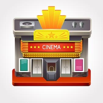 Ilustração do teatro de cinema ou sala de cinema.