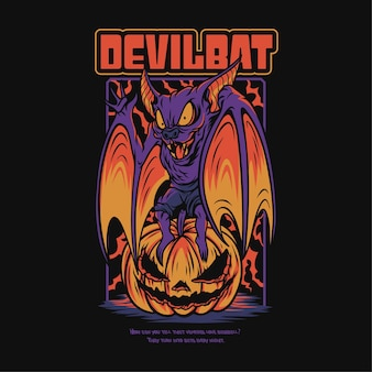 Ilustração do tema de halloween assustador