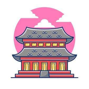 Ilustração do templo antigo de gyeongbokgung.