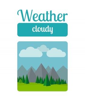 Ilustração do tempo nublado