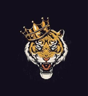 Ilustração do tigre rei