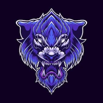 Ilustração do tigre roxo