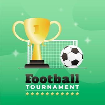 Ilustração do torneio de futebol gradiente