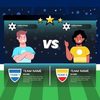 Ilustração do torneio de futebol sul-americano dos desenhos animados