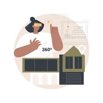 Ilustração do tour virtual imobiliário