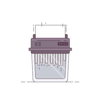 Ilustração do triturador de papel