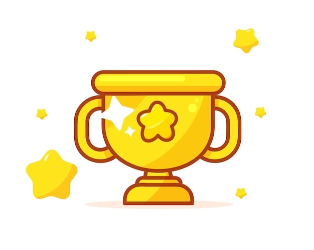 Ilustração do troféu de ouro