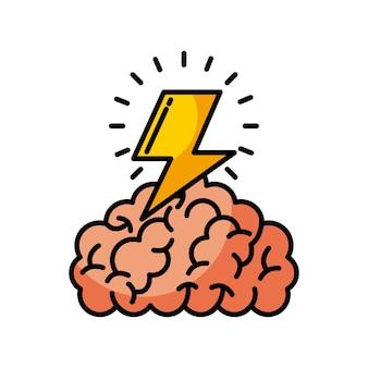 Ilustração do trovão do cérebro