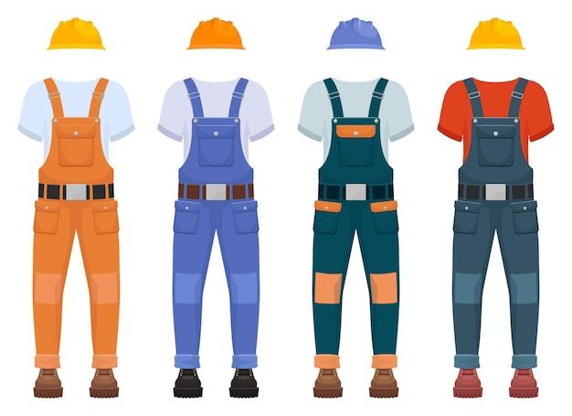 Ilustração do uniforme de construção geral isolada no branco