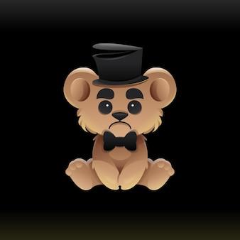 Ilustração do urso mágico triste