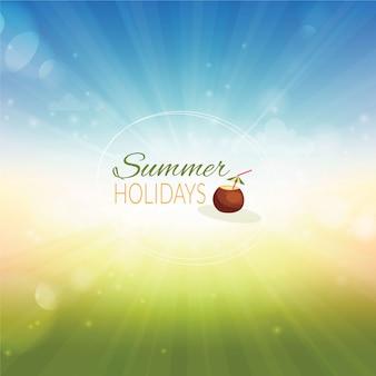 Ilustração do verão.