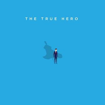 Ilustração do verdadeiro herói da empresa de negócios