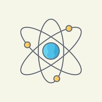 Ilustração do vetor átomo