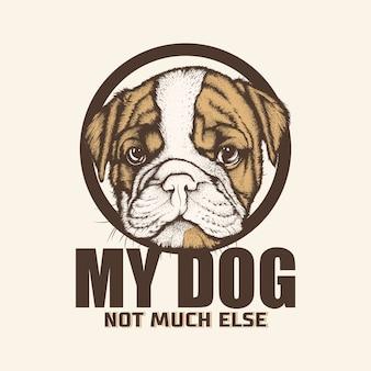 Ilustração do vetor bulldog