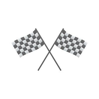 Ilustração do vetor de bandeiras quadriculadas