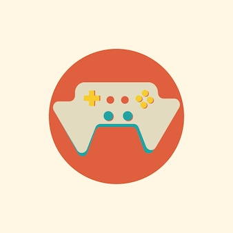 Ilustração do vetor de consola de jogos