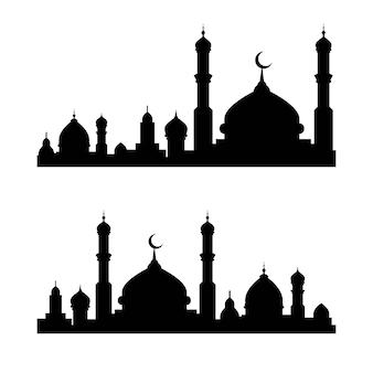 Ilustração do vetor de construção muçulmana