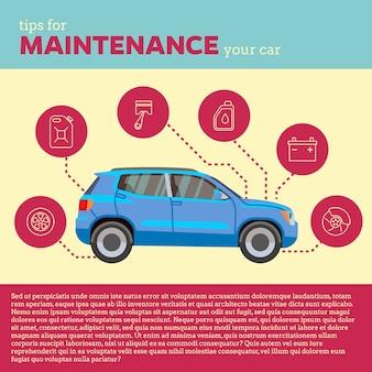 Ilustração do vetor de dicas de carros
